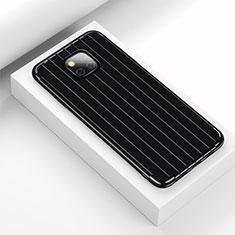 Huawei Mate 20 Pro用シリコンケース ソフトタッチラバー ライン カバー C03 ファーウェイ ブラック
