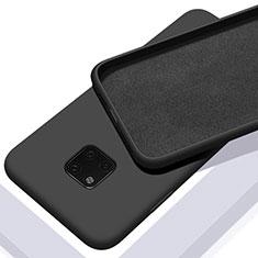 Huawei Mate 20 Pro用360度 フルカバー極薄ソフトケース シリコンケース 耐衝撃 全面保護 バンパー C01 ファーウェイ ブラック