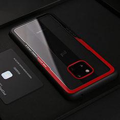 Huawei Mate 20 RS用シリコンケース ソフトタッチラバー レザー柄 S02 ファーウェイ レッド