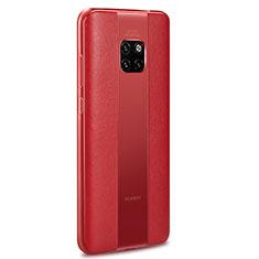 Huawei Mate 20 RS用シリコンケース ソフトタッチラバー レザー柄 カバー H01 ファーウェイ レッド