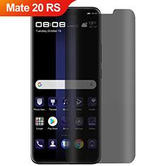 Huawei Mate 20 RS用反スパイ 強化ガラス 液晶保護フィルム M01 ファーウェイ クリア
