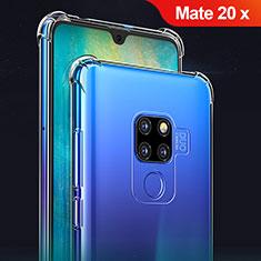 Huawei Mate 20 X 5G用極薄ソフトケース シリコンケース 耐衝撃 全面保護 クリア透明 T02 ファーウェイ クリア