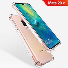 Huawei Mate 20 X 5G用極薄ソフトケース シリコンケース 耐衝撃 全面保護 クリア透明 T08 ファーウェイ クリア
