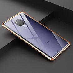 Huawei Mate 20 X 5G用ケース 高級感 手触り良い アルミメタル 製の金属製 バンパー 鏡面 カバー ファーウェイ ゴールド
