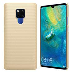 Huawei Mate 20 X 5G用ハードケース プラスチック 質感もマット M01 ファーウェイ ゴールド