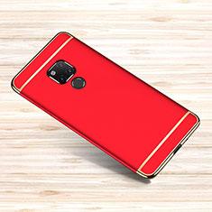 Huawei Mate 20 X 5G用ケース 高級感 手触り良い メタル兼プラスチック バンパー M01 ファーウェイ レッド