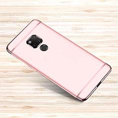 Huawei Mate 20 X 5G用ケース 高級感 手触り良い メタル兼プラスチック バンパー M01 ファーウェイ ローズゴールド