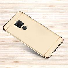 Huawei Mate 20 X 5G用ケース 高級感 手触り良い メタル兼プラスチック バンパー M01 ファーウェイ ゴールド