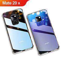 Huawei Mate 20 X用極薄ソフトケース シリコンケース 耐衝撃 全面保護 クリア透明 カバー ファーウェイ クリア