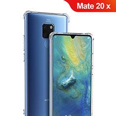 Huawei Mate 20 X用極薄ソフトケース シリコンケース 耐衝撃 全面保護 クリア透明 T05 ファーウェイ クリア