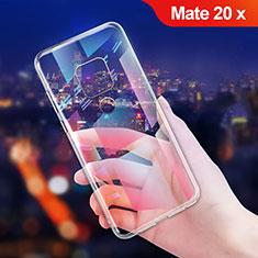 Huawei Mate 20 X用極薄ソフトケース シリコンケース 耐衝撃 全面保護 クリア透明 T06 ファーウェイ クリア