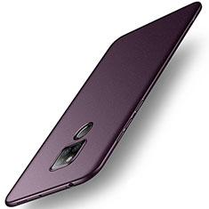 Huawei Mate 20 X用ハードケース プラスチック カバー ファーウェイ パープル