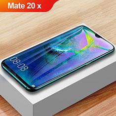 Huawei Mate 20 X用強化ガラス フル液晶保護フィルム アンチグレア ブルーライト F02 ファーウェイ ブラック