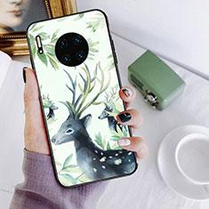 Huawei Mate 30用ハイブリットバンパーケース プラスチック パターン 鏡面 カバー S02 ファーウェイ マルチカラー