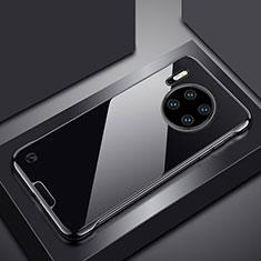 Huawei Mate 30用ハードカバー クリスタル クリア透明 H02 ファーウェイ ブラック