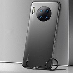 Huawei Mate 30用極薄ケース クリア透明 プラスチック 質感もマット カバー ファーウェイ ブラック