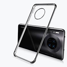 Huawei Mate 30用極薄ソフトケース シリコンケース 耐衝撃 全面保護 クリア透明 H03 ファーウェイ ブラック