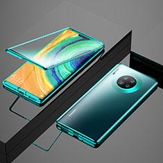 Huawei Mate 30用ケース 高級感 手触り良い アルミメタル 製の金属製 360度 フルカバーバンパー 鏡面 カバー M04 ファーウェイ グリーン
