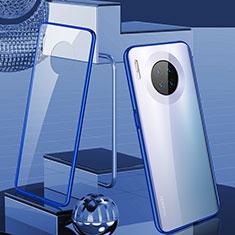 Huawei Mate 30用ケース 高級感 手触り良い アルミメタル 製の金属製 360度 フルカバーバンパー 鏡面 カバー M03 ファーウェイ ネイビー