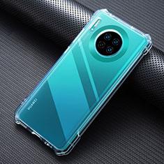 Huawei Mate 30用極薄ソフトケース シリコンケース 耐衝撃 全面保護 クリア透明 K07 ファーウェイ クリア