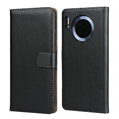 Huawei Mate 30用手帳型 レザーケース スタンド L02 ファーウェイ ブラック