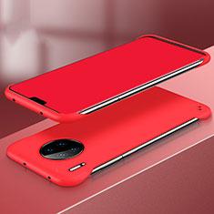 Huawei Mate 30用ハードケース プラスチック 質感もマット カバー P03 ファーウェイ レッド