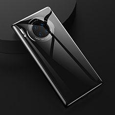 Huawei Mate 30用360度 フルカバー極薄ソフトケース シリコンケース 耐衝撃 全面保護 バンパー C04 ファーウェイ ブラック