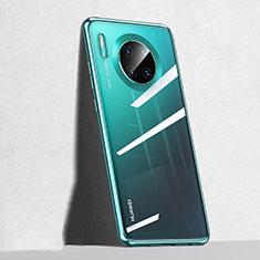 Huawei Mate 30用極薄ソフトケース シリコンケース 耐衝撃 全面保護 クリア透明 S04 ファーウェイ グリーン