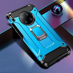 Huawei Mate 30用ハイブリットバンパーケース プラスチック アンド指輪 マグネット式 R01 ファーウェイ ネイビー
