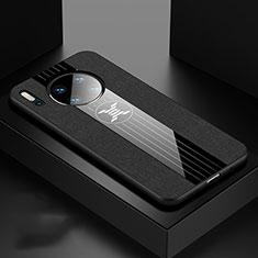 Huawei Mate 30用360度 フルカバー極薄ソフトケース シリコンケース 耐衝撃 全面保護 バンパー C06 ファーウェイ ブラック