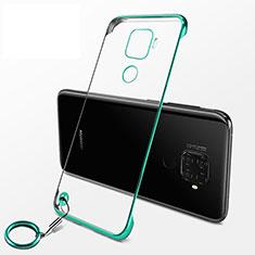 Huawei Mate 30 Lite用ハードカバー クリスタル クリア透明 H04 ファーウェイ グリーン