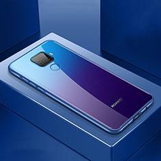 Huawei Mate 30 Lite用ケース 高級感 手触り良い アルミメタル 製の金属製 360度 フルカバーバンパー 鏡面 カバー M06 ファーウェイ ネイビー