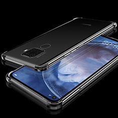 Huawei Mate 30 Lite用極薄ソフトケース シリコンケース 耐衝撃 全面保護 クリア透明 H07 ファーウェイ ブラック