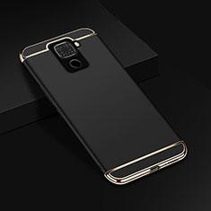 Huawei Mate 30 Lite用ケース 高級感 手触り良い メタル兼プラスチック バンパー M01 ファーウェイ ブラック