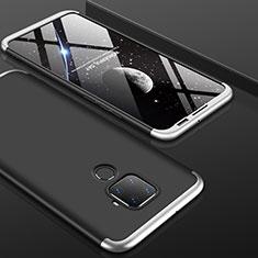 Huawei Mate 30 Lite用ハードケース プラスチック 質感もマット 前面と背面 360度 フルカバー ファーウェイ シルバー・ブラック