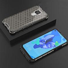 Huawei Mate 30 Lite用極薄ソフトケース シリコンケース 耐衝撃 全面保護 クリア透明 H08 ファーウェイ ブラック
