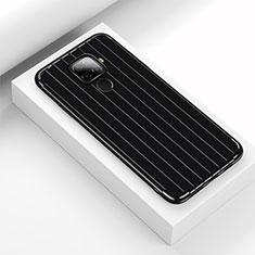 Huawei Mate 30 Lite用シリコンケース ソフトタッチラバー ライン カバー S03 ファーウェイ ブラック