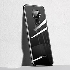 Huawei Mate 30 Lite用極薄ソフトケース シリコンケース 耐衝撃 全面保護 クリア透明 H05 ファーウェイ ブラック