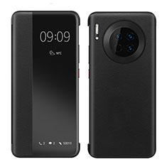 Huawei Mate 30 Pro 5G用手帳型 レザーケース スタンド カバー ファーウェイ ブラック