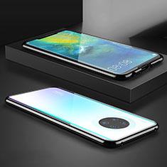 Huawei Mate 30 Pro 5G用ケース 高級感 手触り良い アルミメタル 製の金属製 360度 フルカバーバンパー 鏡面 カバー M07 ファーウェイ ブラック