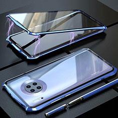 Huawei Mate 30 Pro 5G用ケース 高級感 手触り良い アルミメタル 製の金属製 360度 フルカバーバンパー 鏡面 カバー M06 ファーウェイ ネイビー
