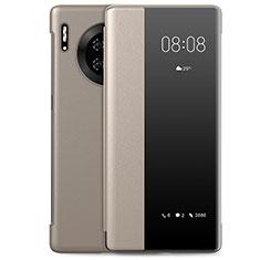 Huawei Mate 30 Pro 5G用手帳型 レザーケース スタンド カバー L01 ファーウェイ ゴールド