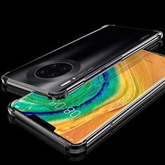 Huawei Mate 30 Pro 5G用極薄ソフトケース シリコンケース 耐衝撃 全面保護 クリア透明 H04 ファーウェイ ブラック