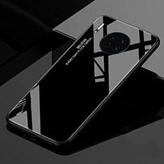 Huawei Mate 30 Pro 5G用ハイブリットバンパーケース プラスチック 鏡面 虹 グラデーション 勾配色 カバー ファーウェイ ブラック