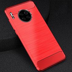 Huawei Mate 30 Pro 5G用シリコンケース ソフトタッチラバー ライン カバー C02 ファーウェイ レッド