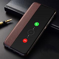 Huawei Mate 30 Pro 5G用手帳型 レザーケース スタンド カバー T04 ファーウェイ ブラウン