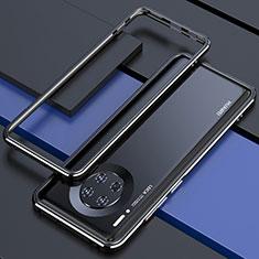 Huawei Mate 30 Pro 5G用ケース 高級感 手触り良い アルミメタル 製の金属製 バンパー カバー ファーウェイ ブラック