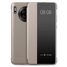 Huawei Mate 30 Pro 5G用手帳型 レザーケース スタンド カバー T03 ファーウェイ ゴールド