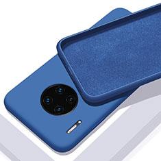 Huawei Mate 30 Pro 5G用360度 フルカバー極薄ソフトケース シリコンケース 耐衝撃 全面保護 バンパー C03 ファーウェイ ネイビー