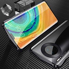 Huawei Mate 30 Pro用ケース 高級感 手触り良い アルミメタル 製の金属製 360度 フルカバーバンパー 鏡面 カバー M05 ファーウェイ ブラック